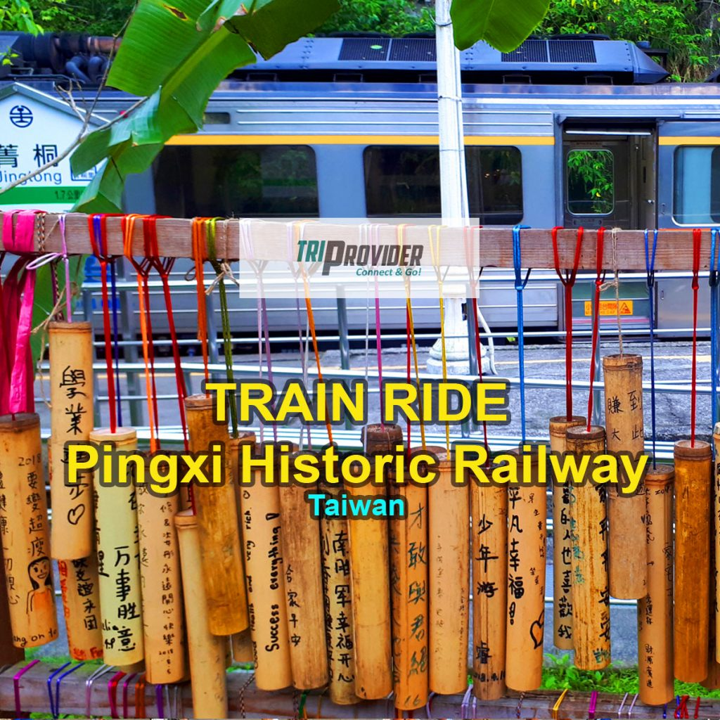 Pingxi Railway Header Photo - Bamboo Sticks at Jingtong Station